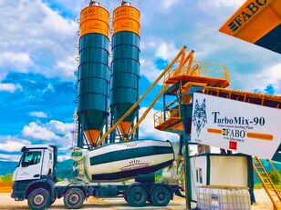 New FABO TURBOMIX-90 MOBILE CONCRETE BATCHING PLANT