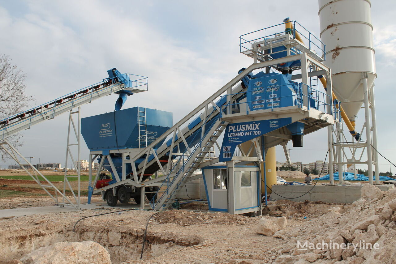 new 100M3/H MOBİLE BATCHING PLANT- BETONYY ZAVOD - CENTRALE A BETON concrete plant
