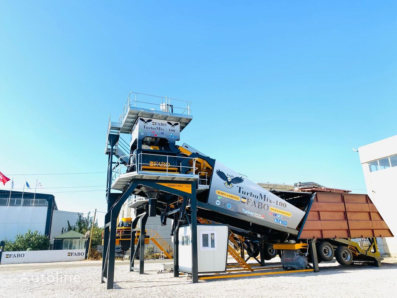 new FABO TURBOMİX 100 CE QUALITY NEW GENERATION MOBILE CONCRETE MIXING PL concrete plant