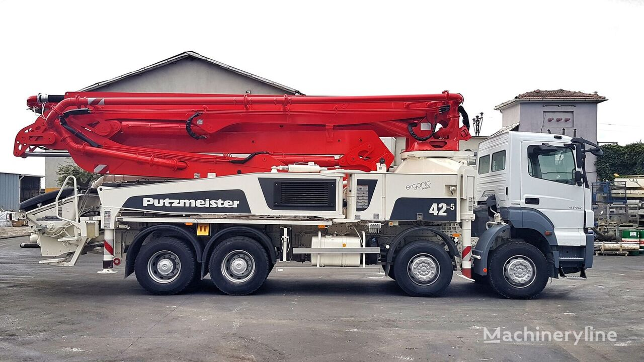 Putzmeister BSF 42-5.16H on chassis MERCEDES-BENZ Axor 4140 8x4 - 2014 Putzmeister 42-5 concrete pump