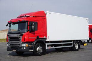 SCANIA P 250  / E 6 / KONTENER / 17 PALET / ŁAD. 9166 KG / MAŁY PRZEBIE box truck