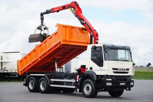 IVECO TRAKKER / 330T45 / E 5 / WYWROTKA + HDS / 6 X 4 / ROTATOR / ŁYŻK dump truck