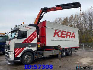 VOLVO FH13 460 6x2 Palfinger Euro5 flatbed truck