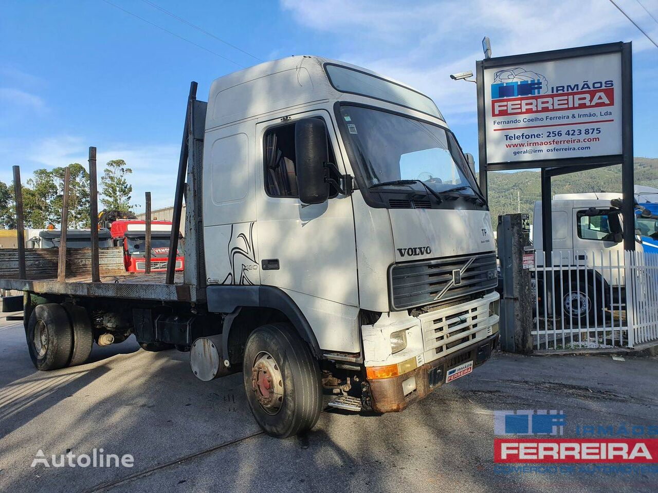 VOLVO FH 12 460 CV 4X2/TRANS,Madeira/molas/cubos reduzidos flatbed truck