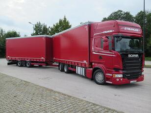 SCANIA R410 TOP LINE + KRONE, ZESTAW 120 M3 tilt truck + tilt trailer